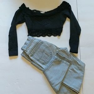 """Other - Vintage """"Mom Jean and Crop Top"""" outfit"""
